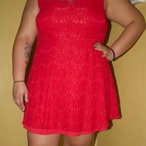 Pink LACE Dress - Plus size